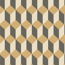 Gold and Black Print Wallcovering by Cole & Son