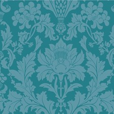 Teal Print Wallcovering by Cole & Son